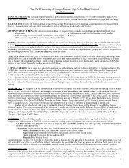 2013 JanFest Final Information - The University Of Georgia Bands