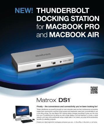 THUNDERBOLT DOCKING STATION for MACBOOK PRO and ...