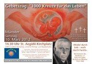 """Gebetszug """"1000 Kreuze für das Leben"""" - Kostbare Kinder"""