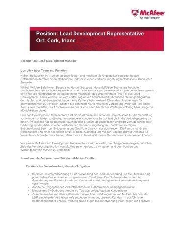 Position: Lead Development Representative