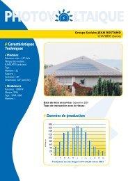 Données de production - Espace INFO->ÉNERGIE du Rhône