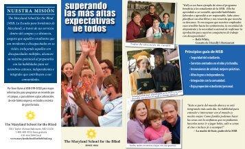 NUESTRA MISIÓN - The Maryland School for the Blind