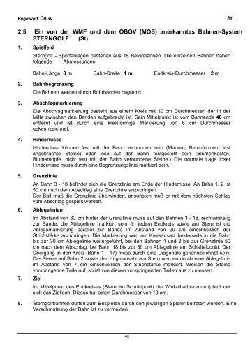 Sterngolf laut ÖBGV Regelwerk Download 2 - TBGV