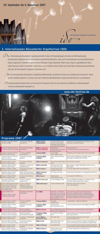 2. Internationales Düsseldorfer Orgelfestival (IDO) Programm 2007