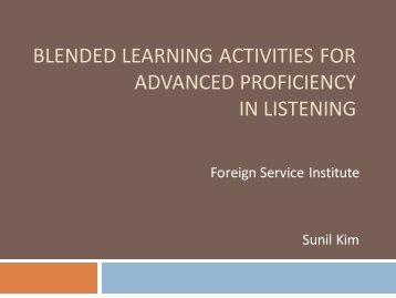 blended learning activities for advanced proficiency in listening