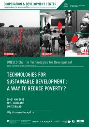 Tech4Dev 2012 Program Brochure - Cooperation at EPFL