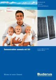 Sonnenstrahlen sammeln mit Stil - Buderus Heiztechnik AG