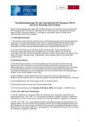 1 Teilnahmebedingungen für den internationalen IKT ... - iTEC10