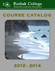 View the Kodiak College Catalog [PDF] - University of Alaska