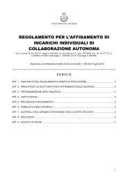 Affidamento incarichi di collaborazione autonoma - Comune di ...