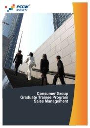 Consumer Group Graduate Trainee Program Sales Management