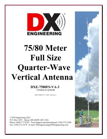75/80 Meter Full Size Quarter-Wave Vertical ... - DX Engineering