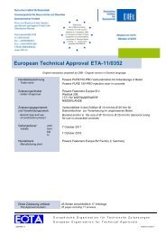 European Technical Approval ETA-11/0352