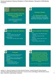 Diversity Taskforce & FSC Workshop on Fellowship - American ...