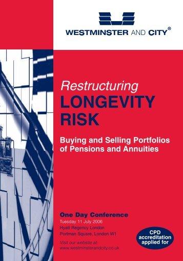 LONGEVITY RISK - Richards Consulting