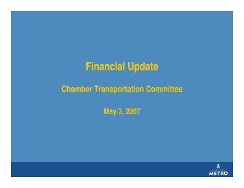 Capital Metro Financial Update
