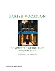 Parish Vocation Committee Guidelines - Archdiocese of St. Louis