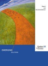 Emerging solutions - MSSS/Notice/Copyright - Gouvernement du ...