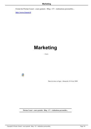 Marketing - Florian Casset - cours gratuits - Blog