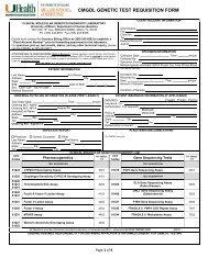 cmgdl genetic test requisition form - The Dr. John T. Macdonald ...