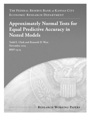 approximately normal tests for equal predictive accuracy in nested