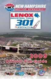 Official Fan Guide - New Hampshire Motor Speedway