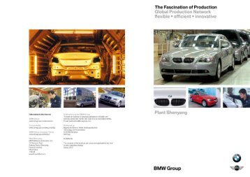 Information in the internet Publications by the BMW - BMW Group