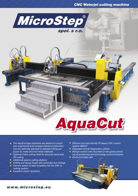 www microstep eu CNC Waterjet cutting machine - MicroStep Europa