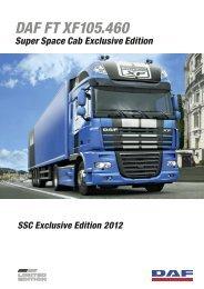 DAF XF105 Exclusive Edition 2012 Infoblatt - bei DAF Magdeburg