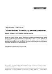 Grenzen bei der Vermarktung grosser Sportevents - bühlmann ...