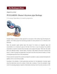 PUGLIARESI: Obama's Keystone pipe blockage - NASPD