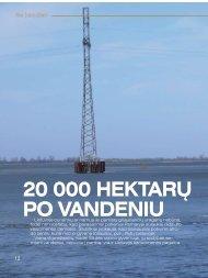 Ne kasdien 20 000 hektarų po vandeniu - Krašto apsaugos ministerija