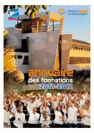 des formations 2011-2012 - Faculté des Sciences et Technologies ...