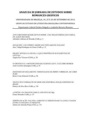 Anais da III Jornada de Estudos sobre Romances Gráficos 2012