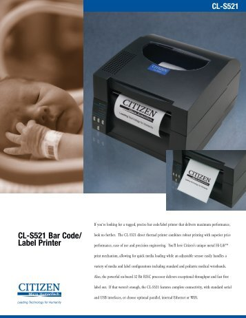 CL-S521 Bar Code/ Label Printer