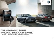 THE NEW BMW  SERIES. ORIGINAL BMW ACCESSORIES. deliver