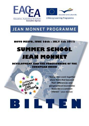 SUMMER SCHOOL JEAN MONNET - Visoka Å¡ola za upravljanje in ...