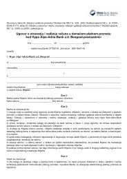 Ugovor o otvaranju i vođenju dinarskog računa za ... - Hypo Alpe-Adria