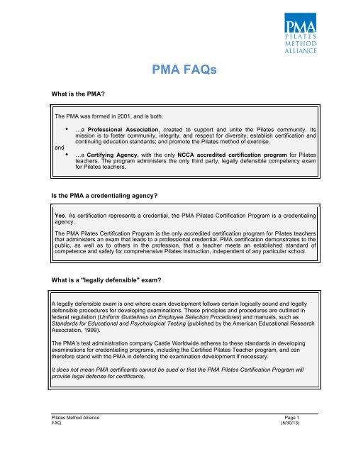 Pma Faqs Pilates Method Alliance