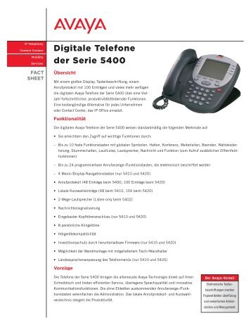 Digitale Telefone der Serie 5400