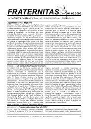 FRATERNITAS 01.06.2006 Appartenere al Signore - OFM