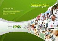 Cartilha - Programas e Ações - Ministério do Esporte