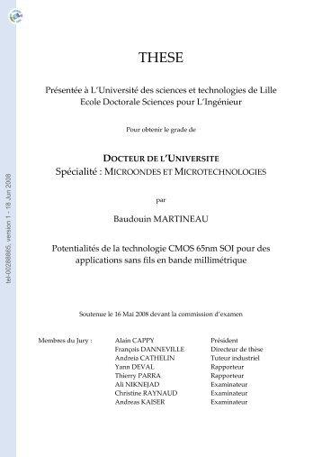DOCTEUR DE L'UNIVERSITE Spécialité: MICROONDES ET ...