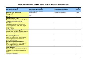 Assessment Form for the EPA Award 2009 – Category 4- Innovation ...