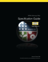 ARRA Specification Guide - Kim Lighting