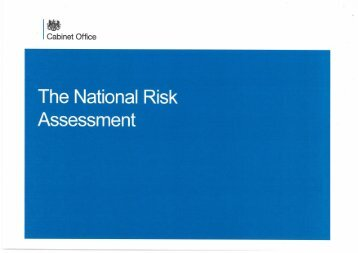 The National Risk Assessment - primo