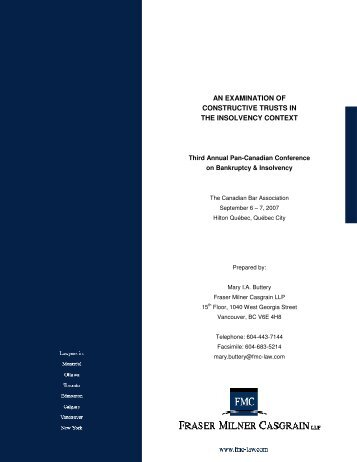 an examination of constructive trusts in the insolvency context