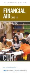 Financial Aid Award Guide 2012-2013 - Baruch College - CUNY