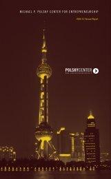michael p. polsky center for entrepreneurship - The University of ...