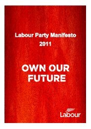 Our 2011 election manifesto - Labour Party
